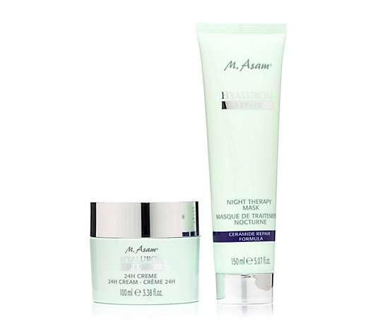 M.ASAM® Hyaluron Repair 24h-Creme 100ml & Night Therapy Mask 150ml