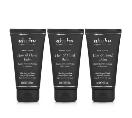 ahuhu organic hair care Hair & Hand Balm 3x 150ml
