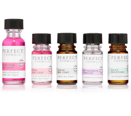 PERFECT FORMULA Ruby Pink Gel Coat 18ml mit Essential Minis 4x 5ml