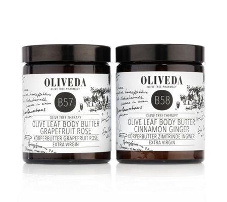 OLIVEDA Körperbutter Set Grapefruit Rose 180ml & Zimtrinde Ingwer 180ml