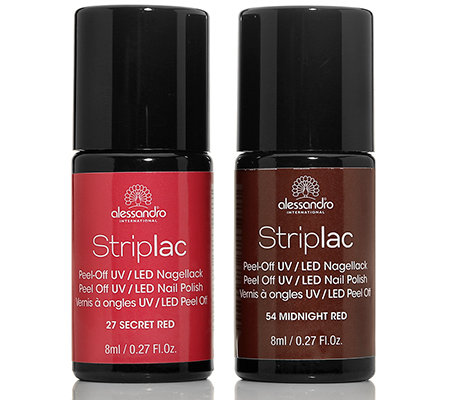 alessandro® Striplac Farbduo Secret Red & Midnight Red je 8ml