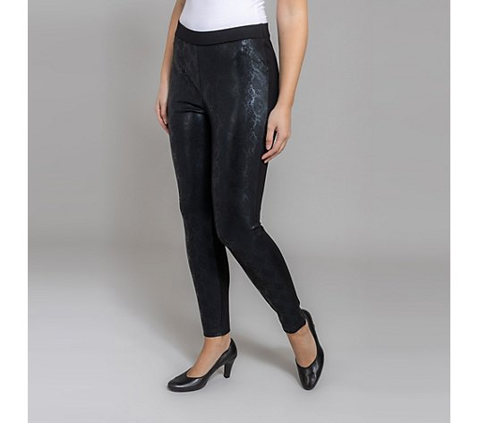 VIA MILANO Jeggings Jersey Foliendruck Reptil