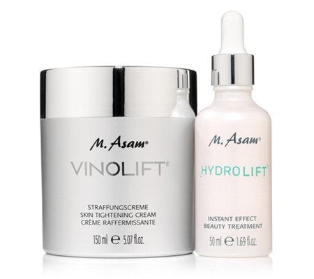 M.ASAM® VINOLIFT® Straffungscreme 150ml & Hydrolift Instant Effect Treatment 50ml