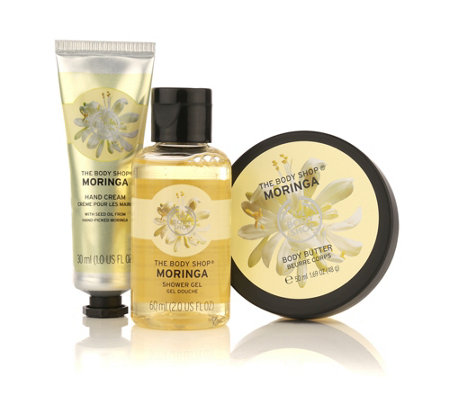 THE BODY SHOP® Moringa Geschenk-Set Duschgel 60ml Hand Cream 30ml Body Butter 50ml