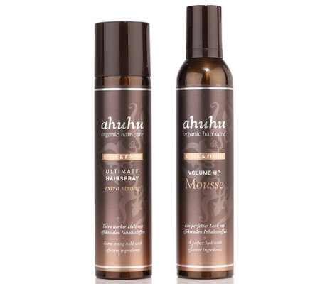 ahuhu organic hair care Volume up Mousse & Ultimate Hairspray je 300ml