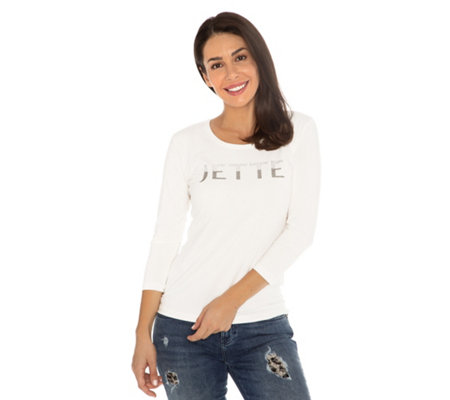 JETTE Shirt , 3/4-Arm Jette-Logo uni Pima Cotton