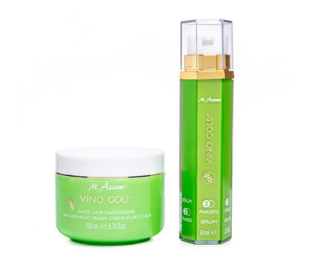 M.ASAM® Vino Gold® 2-Phasen-Serum 24h-Creme 60ml + 200ml