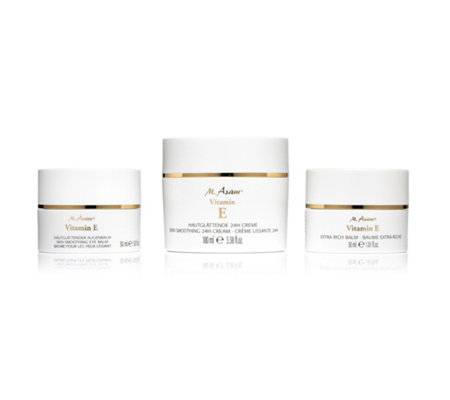 M.ASAM® Vitamin E 24h-Creme 100ml, Extra Rich Balm 30ml & Augencreme 30ml