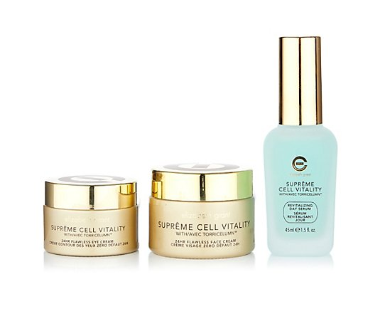 ELIZABETH GRANT Supreme Cell Vitality 24h-Cream 50ml, Day Serum 45ml & Eye Cream 30ml