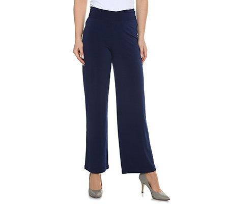 beliebt kaufen Neues Produkt neue sorten KIM & CO. Brazil Knit Jersey Hose, breiter Bund weite Form Kurz-&  Normalgröße — QVC.de