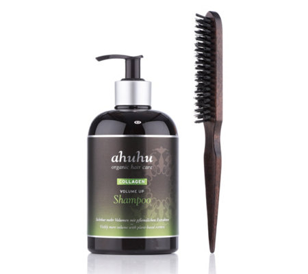 ahuhu organic hair care Volume up Brush & Shampoo 500ml