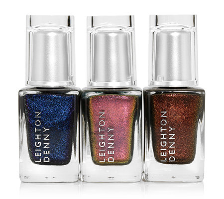 LEIGHTON DENNY The Goddess Trio Blue: braun, dunkelblau & kupfergold