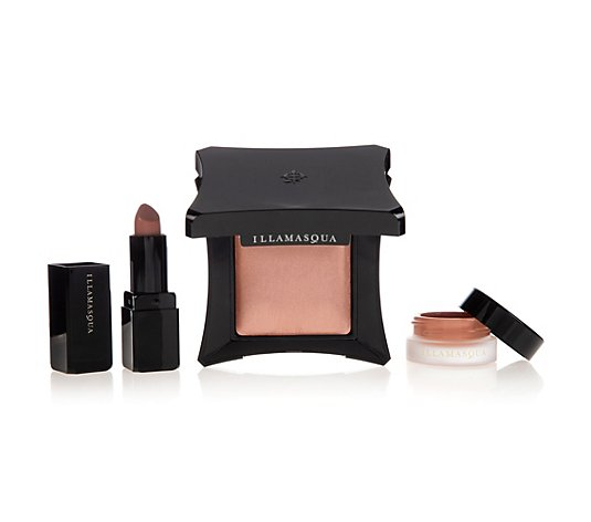 ILLAMASQUA Make-up-Set Lippenstift, Highlighter & Rouge, 3tlg.
