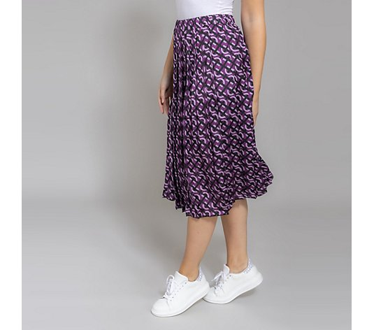 DAWID by Dawid Tomaszewski Midi-Rock plissiert Alloverdruck