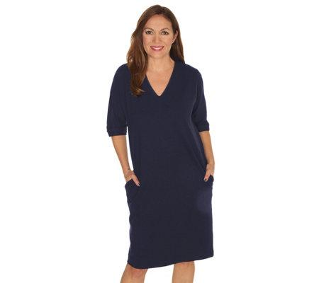 1d32bdcf0b5 THOM by Thomas Rath Designermode Kleid V-Ausschnitt Oversize-Look ...