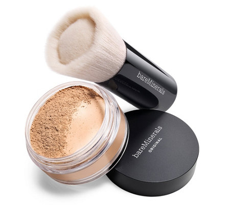 bareMinerals® Original Foundation 8g mit LSF 15 & Puderpinsel