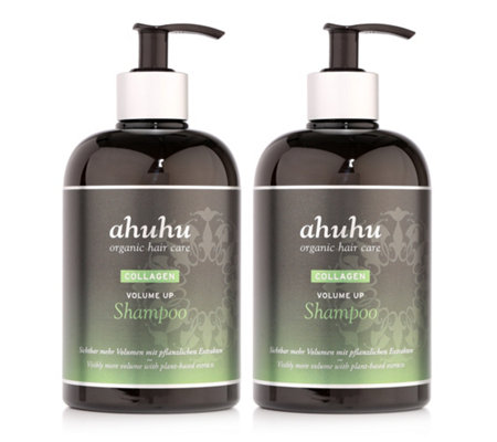 ahuhu organic hair care Collagen Volume up Shampoo- Duo, je 500ml