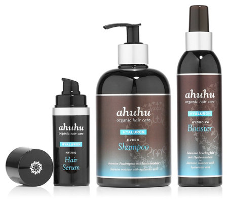 ahuhu organic hair care Hydro-Set Shampoo 500ml, Serum 30ml & Booster 200ml