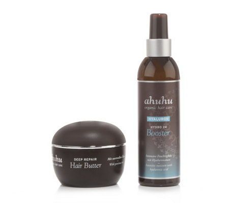 ahuhu organic hair care Deep Repair Hairbutter 100ml & Hydro Booster 200ml