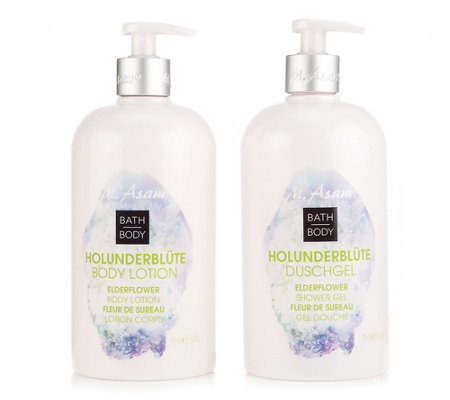 M.ASAM® HOLUNDERBLÜTE Duft-Set Duschgel 750ml Bodylotion 750ml