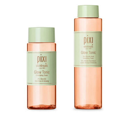 PIXI BEAUTY GLOW TONIC Toner-Duo mit Glycolsäure 250ml & 100ml