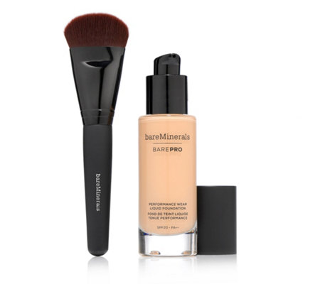 bareMinerals® BAREPRO™ Performance Wear Liquid Foundation 30ml mit Pinsel