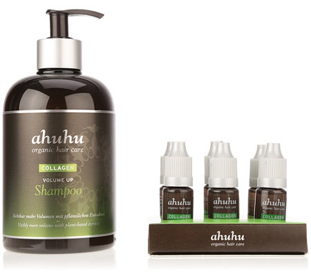 ahuhu organic hair care Collagen Volumen up Shampoo 500ml & Concentrate 6x 10ml