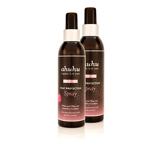 ahuhu organic hair care Heat Protection Hitzeschutzspray 2x 200ml