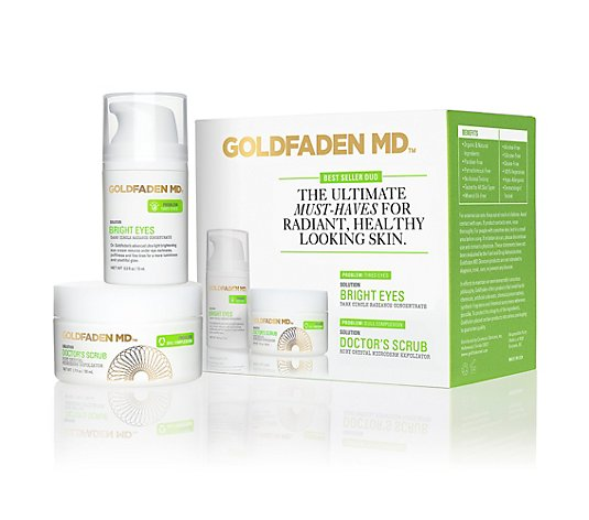 GOLDFADEN MD™ Doctors Scrub Exfoliator 50ml & Bright Eyes 15ml