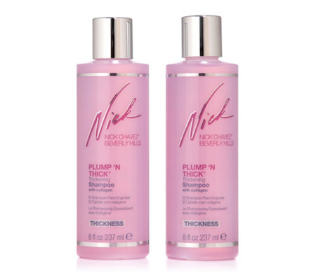 NICK CHAVEZ Plump 'N Thick Shampoo mit Collagen für dickeres Haar, 2x 237ml