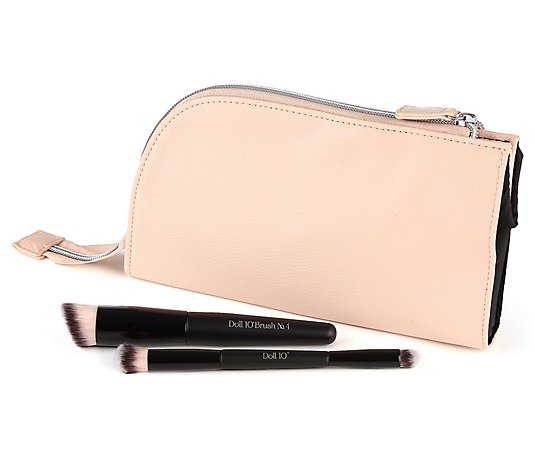 DOLL 10 BEAUTY Pinsel-Set mit Foundation & Concealer Pinsel inkl. Tasche, 2tlg.