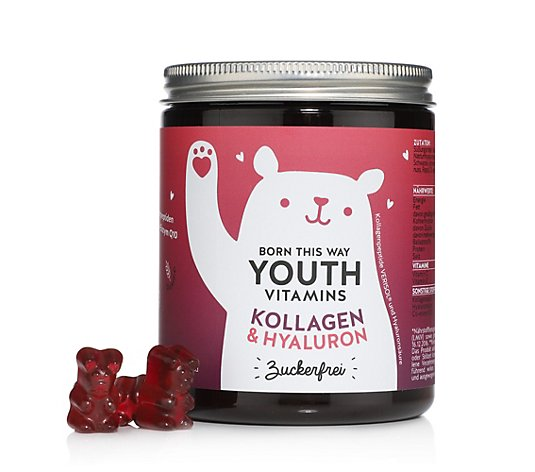 BEARS WITH BENEFITS Born This Way mit VERISOL®, Q10 & Hyaluronsäure 90 Fruchtgummis