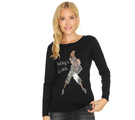 TODAY´S QUEEN by Wolfgang Hein Designermode Pullover, 1/1-Arm Figurine
