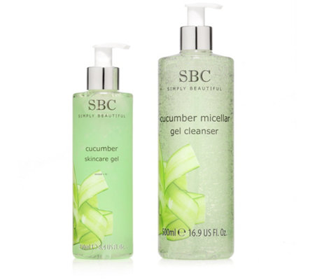 SBC GURKE Skincare Gel 250ml & Mizellen Reinigungs- gel 500ml