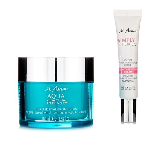 M.ASAM® Aqua Intense® Hyaluron Creme 100ml & Simpy Perfect 15ml 2tlg.