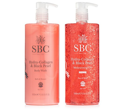 SBC Hydra Collagen & Black Pearl Moisturizing Gel & Duschgel 2x 1.000ml