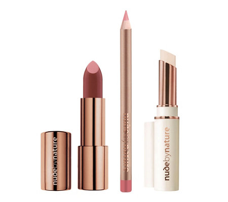 NUDE BY NATURE Moisture Shine Lippen-Set 3tlg.