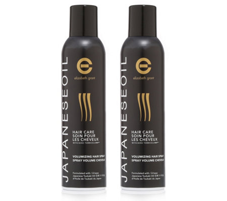 ELIZABETH GRANT Japanese Oil Haircare Volumizing Hairspray 2x 250ml