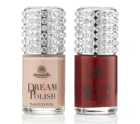alessandro® Dream Collection Nagellack-Duo mit Strass je 15ml