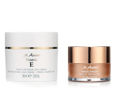 M.ASAM® Vitamin E hautglättende 24h-Creme 100ml & Magic Finish 30ml