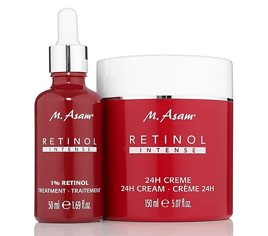 M.ASAM® Retinol Intense 24h-Creme 150ml & 1% Retinol Treatment 50ml