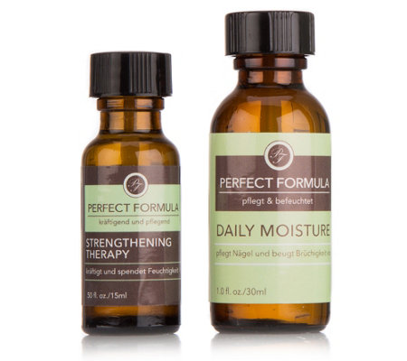 PERFECT FORMULA Strengthening Therapy 15ml & Daily Moisture Öl 30ml, 2tlg.