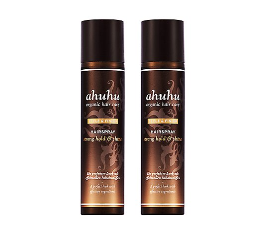 ahuhu organic hair care Hairspray strong hold & shine 2x 300ml
