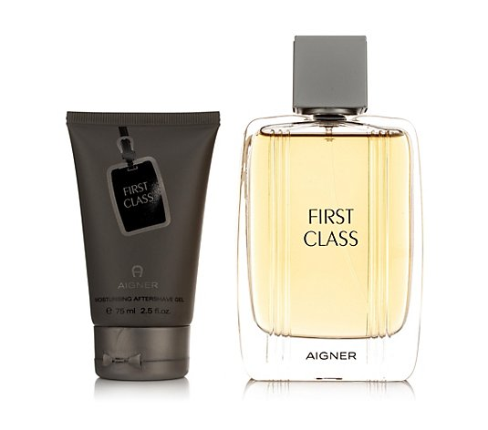 AIGNER First Class-Set für Herren 2tlg. Eau de Toilette 100ml After Shave Gel 75ml
