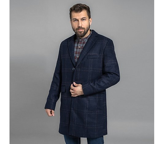 THOM by Thomas Rath Menswear, Wollmantel Einreiher gefüttert regular fit