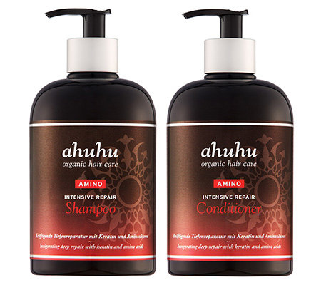 ahuhu organic hair care Intensive Repair Shampoo & Conditioner je 500ml