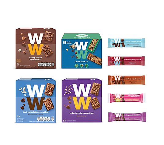 WW® ehemals Weight Watchers Riegel-Set 9tlg. mit Schokolade und Cereal Bar Kit