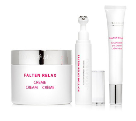 FLORA MARE Falten Relax Creme 200ml, Roll-on 10ml & Augencreme 20ml