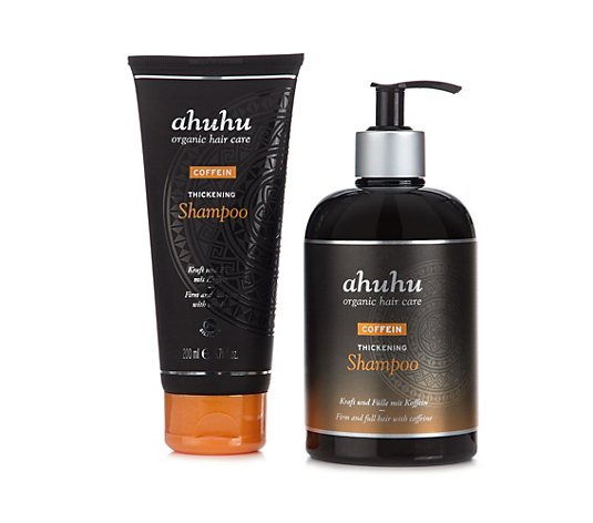ahuhu organic hair care Coffein Thickening Shampoo 500ml & 200ml Tube