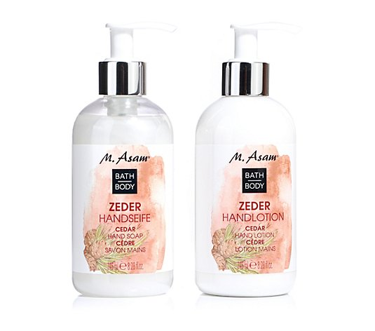 M.ASAM® Zeder Handseife & Handlotion 2x 245ml